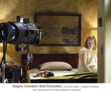 "Setting up a shot in a scene from the documentary ""Gregory Crewdson: Brief Encounters."""
